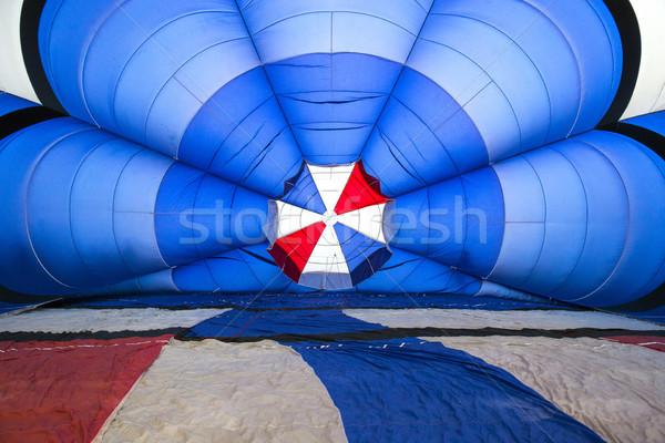 Bent hőlégballon színek kék jókedv fekete Stock fotó © stefanoventuri