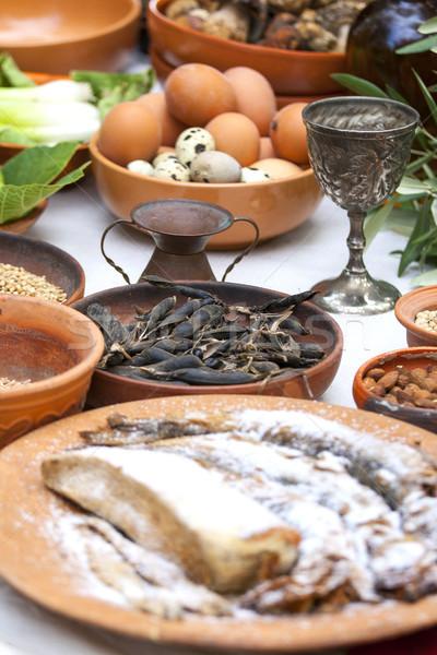 Preparing ancient Roman food  Stock photo © stefanoventuri