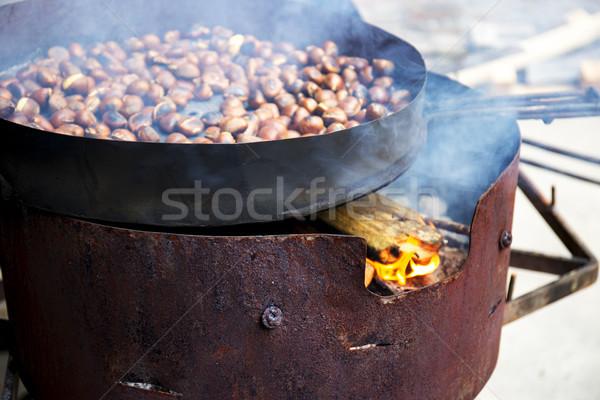 Organisch bruin hot brand natuur najaar Stockfoto © stefanoventuri