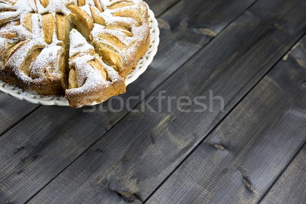 Traditional italian apple pie on a wooden table Stock photo © stefanoventuri