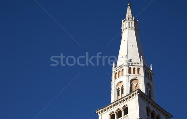 Torre catedral blue sky céu edifício atravessar Foto stock © stefanoventuri
