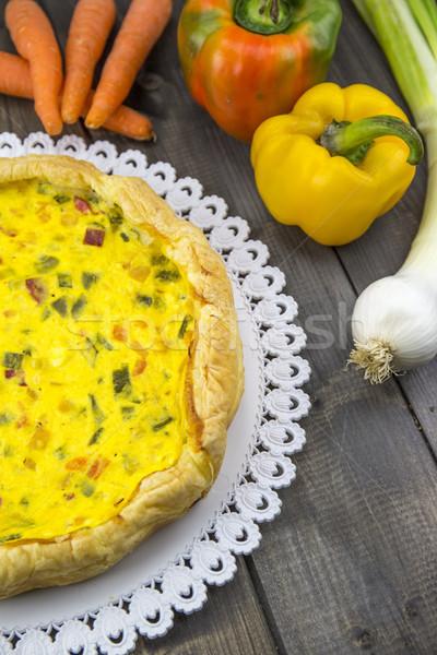 Sarriette tarte poivrons oignon carottes courgettes Photo stock © stefanoventuri