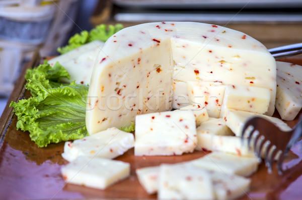 Italiano queijo quente madeira leite Foto stock © stefanoventuri