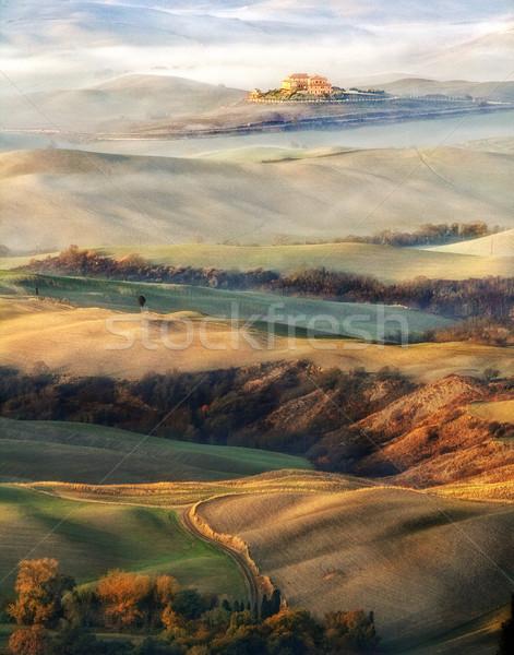 краской Тоскана красивой мнение дороги деревья Сток-фото © stefanoventuri