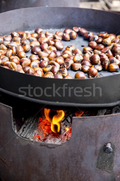 Orgânico marrom quente fogo comida outono Foto stock © stefanoventuri