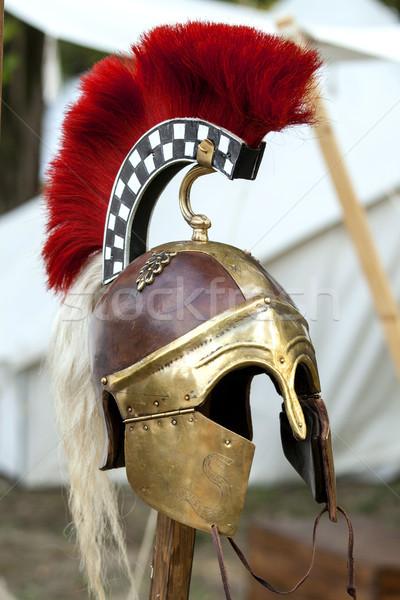 скопировать древних шлема римской фон металл Сток-фото © stefanoventuri