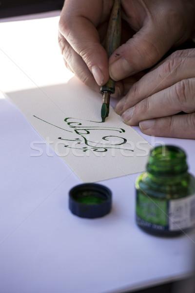 Straat schilder schrijven celtic naam groene Stockfoto © stefanoventuri