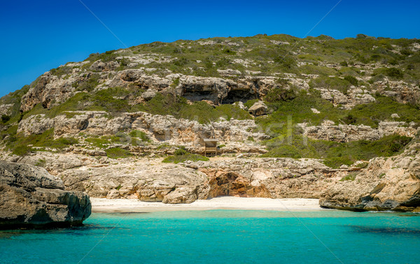 песок пляж рай известный пейзаж Сток-фото © Steffus