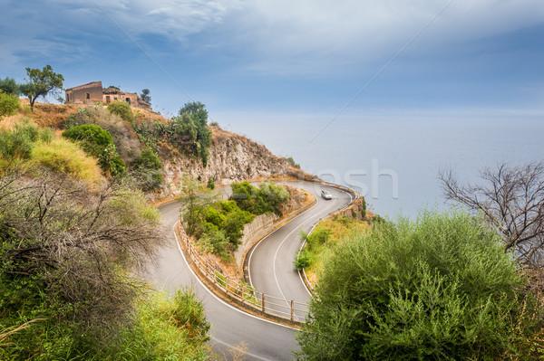 Serpantine road Stock photo © Steffus