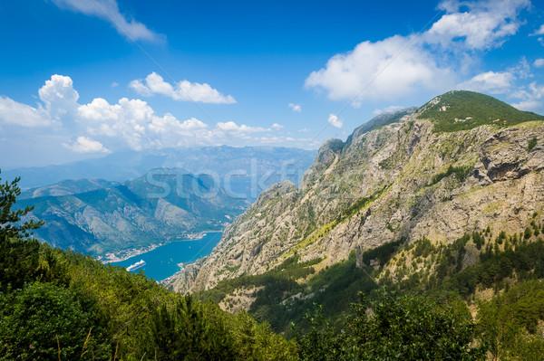 Montanha alcance paisagem ver Montenegro nuvens Foto stock © Steffus