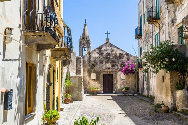 старый город Церкви подлинный Италия цветы Сток-фото © Steffus