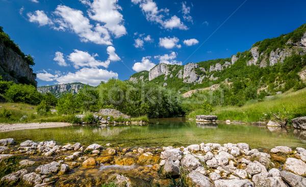горные реке пейзаж каньон города Черногория Сток-фото © Steffus