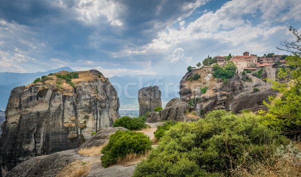 Meteora rocks landscape Stock photo © Steffus