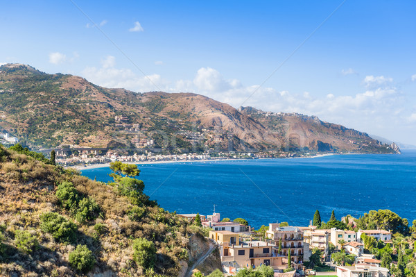 Sicilia maravilloso vista Resort playa Foto stock © Steffus