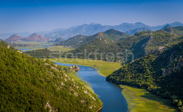 Landscape of the Crnojevica river canyon. Stock photo © Steffus