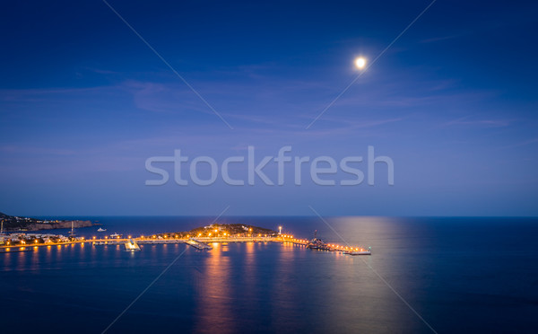 Ibiza harbor at night Stock photo © Steffus