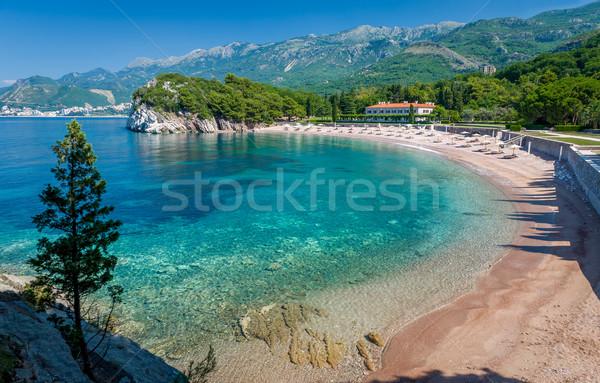 Черногория песок пляж красивой идеальный морем Сток-фото © Steffus