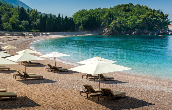 Adriatic sea sand beach at bautiful bay Stock photo © Steffus