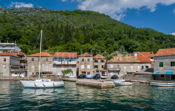 Sailing boat in the old mediterranean village Stock photo © Steffus