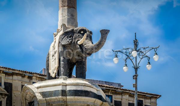 象 列 像 シチリア島 イタリア 空 ストックフォト © Steffus