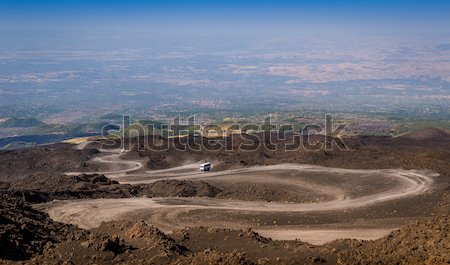 The path to the top of Mount Etna volcano Stock photo © Steffus