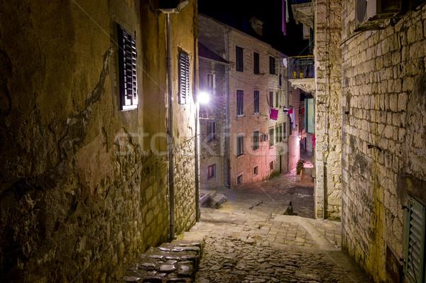 Stock photo: Kotor old town streets at night