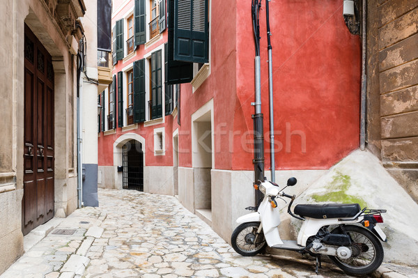 Stock photo: Colorful narrow street in old mediterranean town