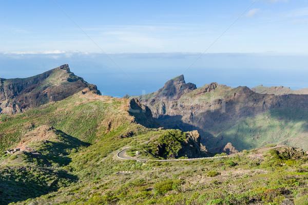 Dağ manzara tenerife yol ada İspanya Stok fotoğraf © Steffus