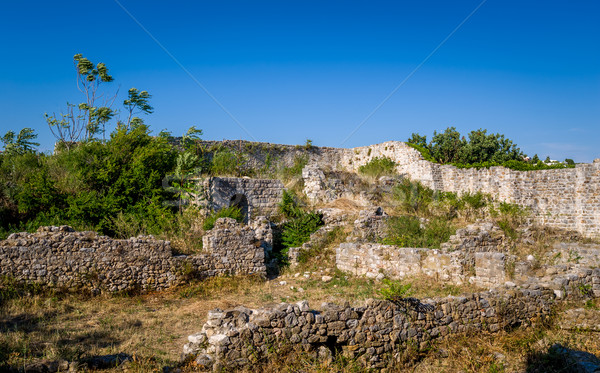Middeleeuwse ruines Montenegro archeologische plaats Stockfoto © Steffus