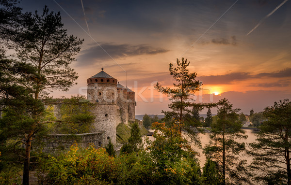 Fortress towers at sunset Stock photo © Steffus