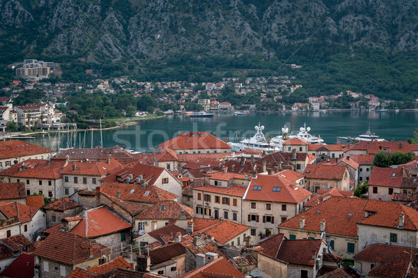Red roofs of Kotor old town Stock photo © Steffus