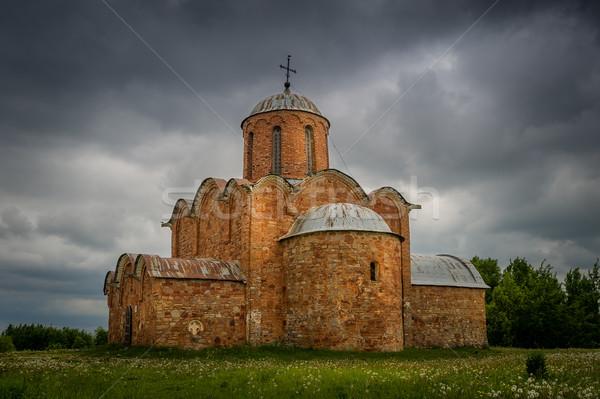 древних Готский Церкви красный каменные собора Сток-фото © Steffus