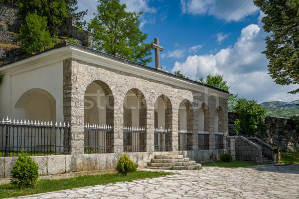 старые монастырь зданий Черногория древних девственница Сток-фото © Steffus