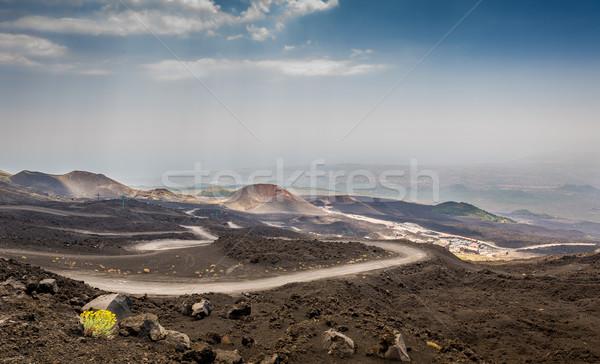 вулкан пейзаж парка мнение Top Сицилия Сток-фото © Steffus