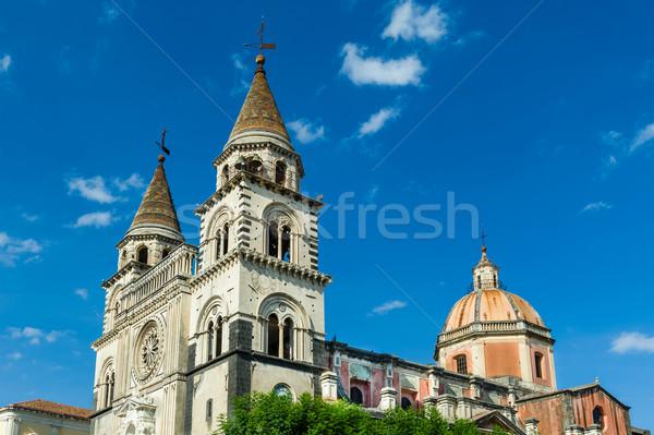 Katedry sycylia Włochy dwa niebo Zdjęcia stock © Steffus