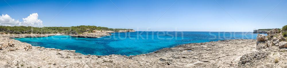 Cala Mandrago panorama Stock photo © Steffus