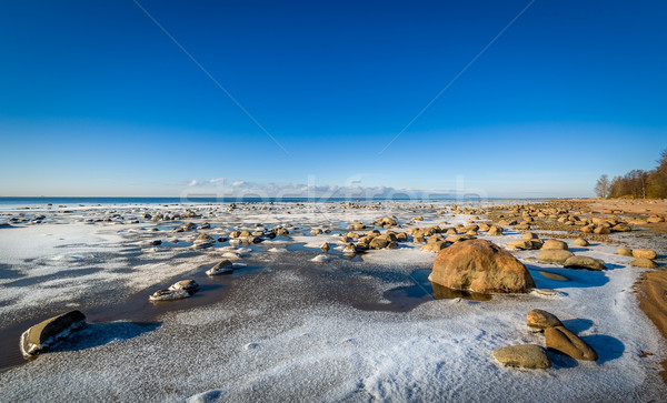 Icy shore landscape Stock photo © Steffus