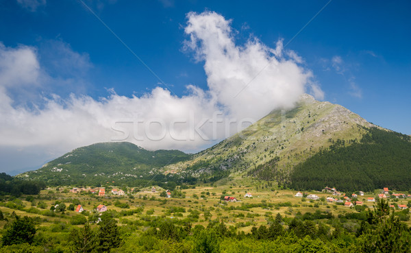 деревне гор Черногория сельский домах Сток-фото © Steffus