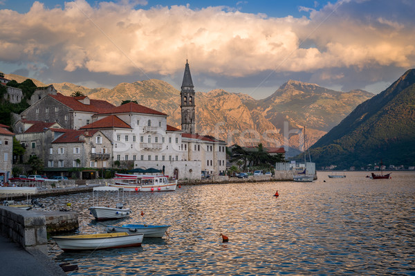 Perast old town landscape Stock photo © Steffus