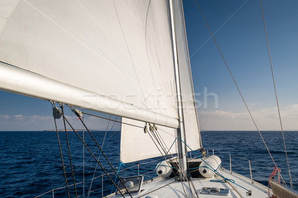 Sailing in Mediterranean sea Stock photo © Steffus