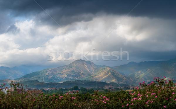 гор погода облачный небе солнечный свет Сток-фото © Steffus