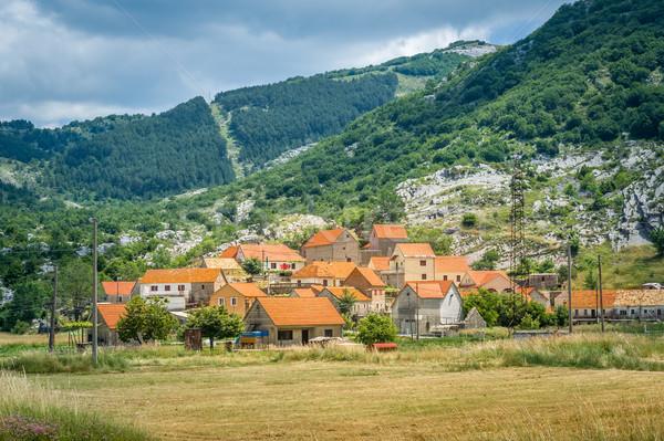 歴史的 村 モンテネグロ 建物 ホーム 山 ストックフォト © Steffus