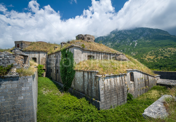 Fortaleza histórico edificio nubes montanas Foto stock © Steffus