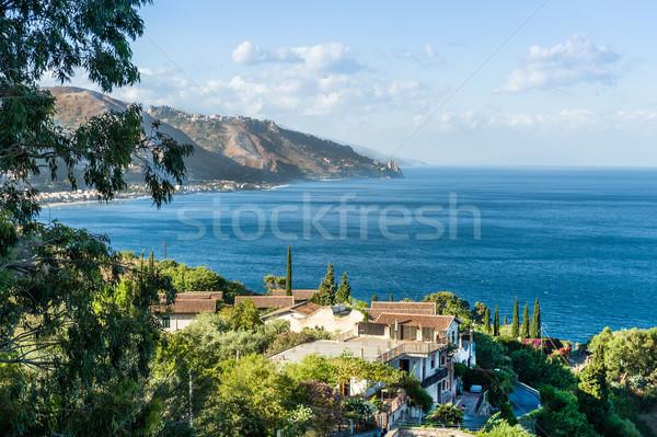 Miasta sycylia wspaniały widoku Włochy Zdjęcia stock © Steffus