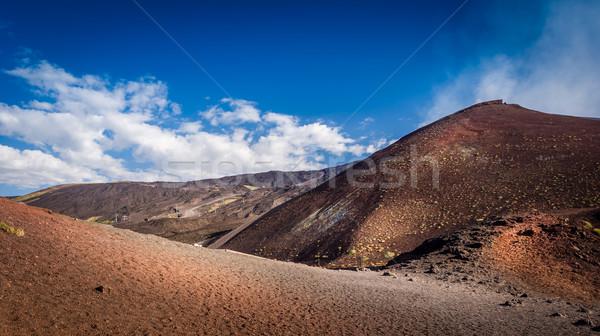 Vulkán színes tájkép Szicília Olaszország természet Stock fotó © Steffus