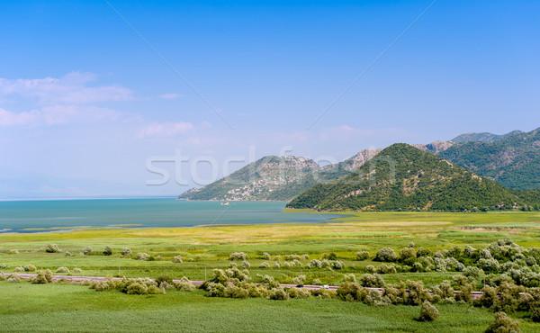 озеро парка Черногория пейзаж шоссе зеленый Сток-фото © Steffus