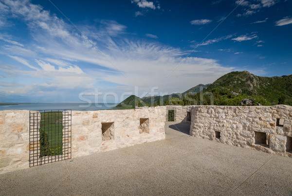 замок пушка пушки квадратный древних наблюдение Сток-фото © Steffus