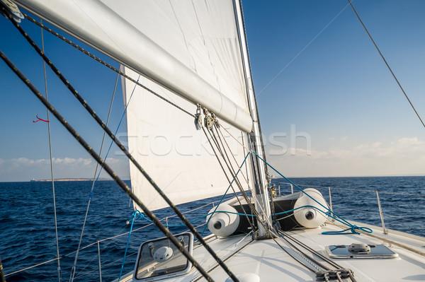 Yelkencilik yat yay İspanya deniz Stok fotoğraf © Steffus