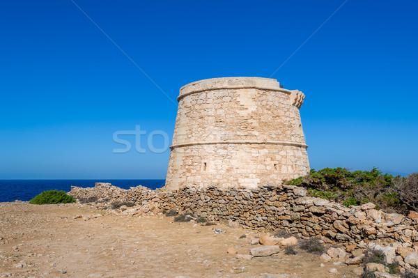Eski kule izlemek ada deniz mimari Stok fotoğraf © Steffus