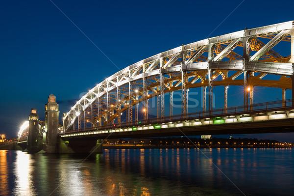 Piter the first bridge in Saint-Petersburg, Russia Stock photo © Steffus